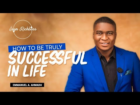 Emmanuel Ahmadu - How To Be Truly Successful In Life📈 😎